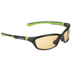 Swiss Eye occhiali da sole Drift - lenti arancione fumé fotocromatiche / montatura in nero e verde opaco