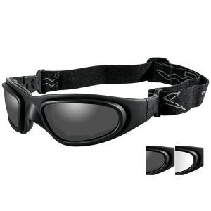 Wiley X occhiali protettivi SG-1 con lenti grigie fumé + trasparenti e struttura in nero opaco