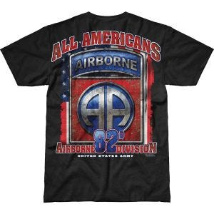 7.62 Design T-Shirt Army 82nd Airborne All Americans Battlespace in nero