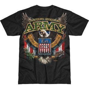 7.62 Design T-Shirt Army Fighting Eagle Battlespace in nero
