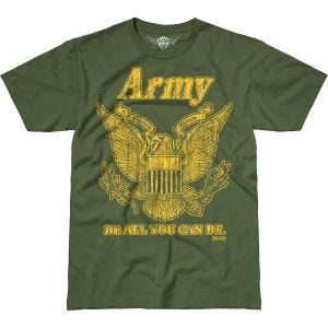 7.62 Design T-Shirt Army Retro Battlespace in Military Green