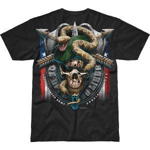 7.62 Design T-Shirt Army Special Forces Green Beret Battlespace in nero