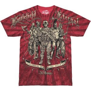 7.62 Design T-Shirt Battlefield Eternal in Scarlet