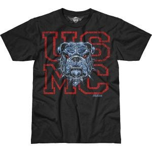 7.62 Design T-Shirt USMC Dress Blue Bulldog Battlespace in nero