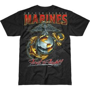 7.62 Design T-Shirt USMC Eagle, Globe & Anchor Battlespace in nero