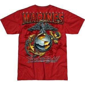 7.62 Design T-Shirt USMC Eagle, Globe & Anchor Battlespace in Scarlet