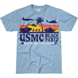 7.62 Design T-Shirt USMC Beach Party Battlespace in celeste