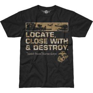 7.62 Design T-Shirt USMC Locate Battlespace in nero