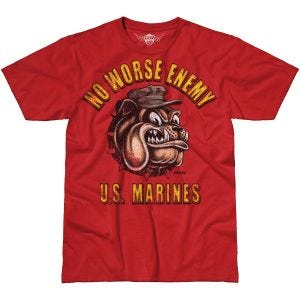 7.62 Design T-Shirt USMC No Worse Enemy Battlespace in Scarlet Heather