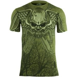 7.62 Design T-Shirt USMC Recon Swift Silent Deadly in Military Green