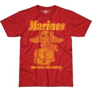 7.62 Design T-Shirt USMC Retro Battlespace in Scarlet