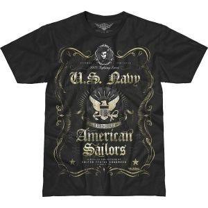 7.62 Design T-Shirt USN Fighting Spirit Battlespace in nero