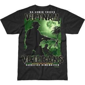 7.62 Design T-Shirt Vietnam Veterans Remembered Battlespace in nero