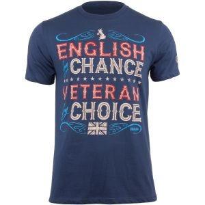 7.62 Design T-Shirt Veteran By Choice English in Indigo Blue
