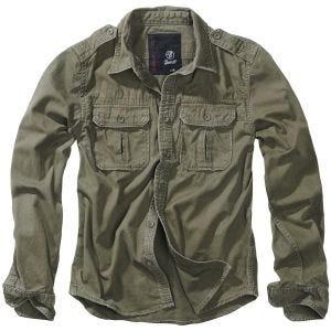 Brandit Vintage Shirt Long Sleeve Olive