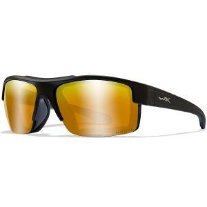 Wiley X WX Compass Glasses - Captivate Polarized Bronze Mirror Lens / Matte Black Frame