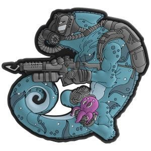 Patchlab Chameleon Diver Patch Blue/Black