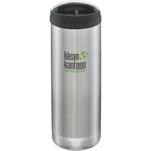 Klean Kanteen TKWide 473ml Insulated Bottle Cafe Cap 2.0 Brushed Stainless