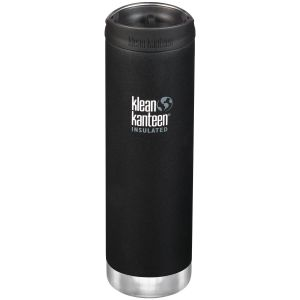 Klean Kanteen TKWide 591ml Insulated Bottle Cafe Cap 2.0 Shale Black