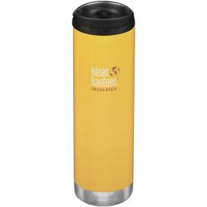 Klean Kanteen TKWide 591ml Insulated Bottle Cafe Cap 2.0 Lemon Curry