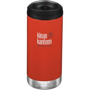 Klean Kanteen TKWide 355ml Insulated Bottle Cafe Cap 2.0 Post Box Red