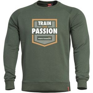 Pentagon Hawk Sweater Train your Passion Camo Green