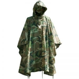 Poncho impermeabile in Ripstop in Woodland