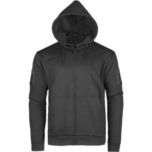 Mil-Tec Tactical Zipped Hoodie Black