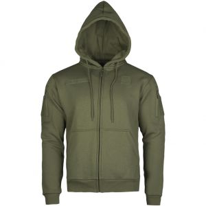 Mil-Tec felpa Tactical con cappuccio e zip in Ranger Green