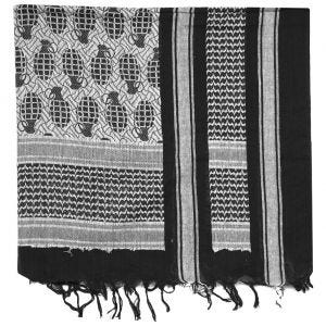 Mil-Tec Shemagh Scarf Pineapple Black / White