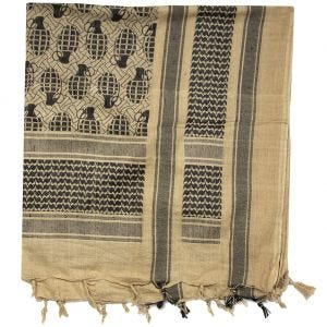 Mil-Tec Shemagh Scarf Pineapple Coyote / Black