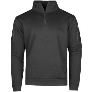 Mil-Tec Tactical Sweatshirt with Zipper Black
