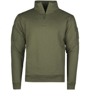 Mil-Tec felpa Tactical con zip sul petto in Ranger Green