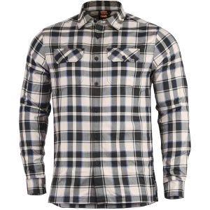Pentagon camicia a maniche lunghe Drifter in flanella Off White Checks