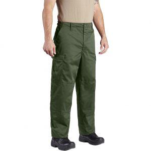 Propper pantaloni BDU con patta a bottoni in twill di policotone in verde oliva