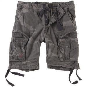 Surplus shorts vintage effetto slavato Airborne in Black Camo