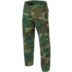 Teesar pantaloni BDU in ripstop in Woodland