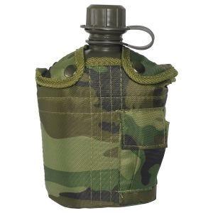 Mil-Tec borraccia militare da 1 litro con custodia in Woodland