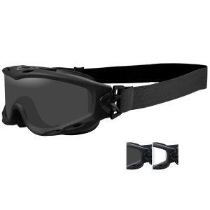 Wiley X occhiali protettivi Spear con lenti grigie fumé + trasparenti e struttura in nero opaco