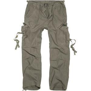 Brandit pantaloni M-65 Vintage in verde oliva