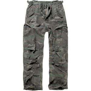 Brandit pantaloni M-65 Vintage in Woodland