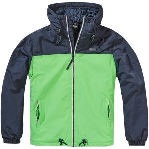 Brandit giacca a vento Harris in due colori Indigo/Spring Green
