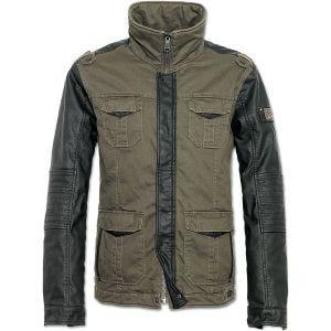 Brandit giacca Ray Vintage in verde oliva/nero