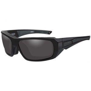 Wiley X occhiali WX Enzo con lenti fumé grigie e struttura in nero opaco