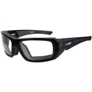 Wiley X occhiali WX Enzo con lenti trasparenti e struttura in nero lucido