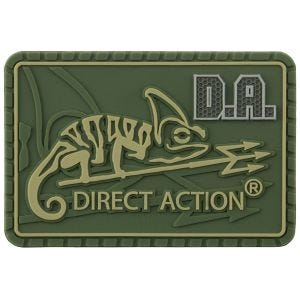 Direct Action patch medium con logo in Olive Green