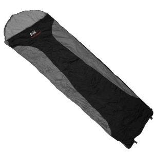Fox Outdoor sacco a pelo Ultralight nero / grigio