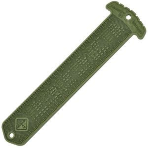 Hazard 4 righello con alfabeto morse / mostrina MOLLE Cheatstick #1 in OD Green
