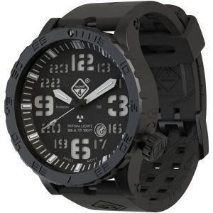 Hazard 4 orologio Heavy Water Diver Titanium Tritium quadrante Nightwatch con grafica verde/giallo