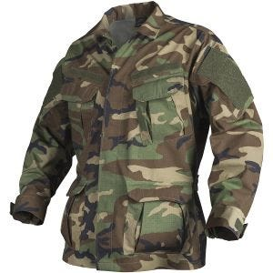 Helikon camicia SFU NEXT in policotone ripstop in US Woodland